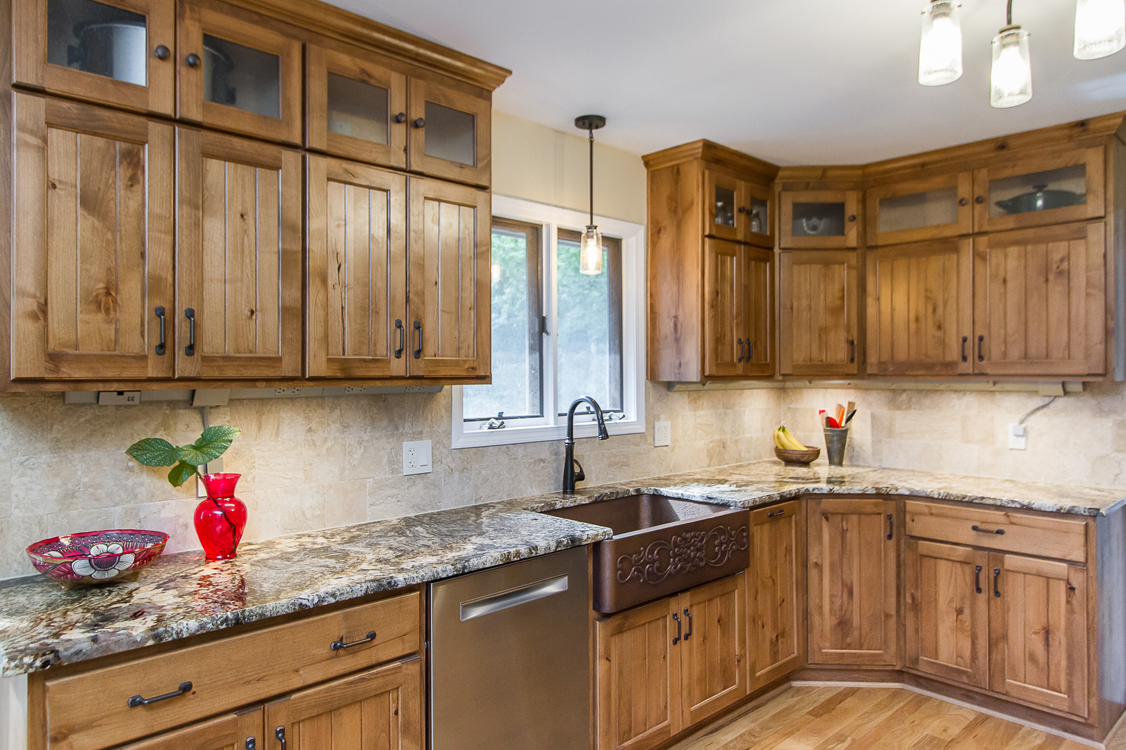 Rustic Alder Kitchen Cabinetry Blue Springs MO