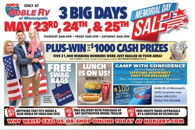 Noble RV of Minneapolis Memorial Day Sale 2019