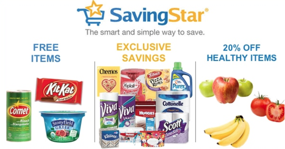 SavingStar eCoupons Food Digital Coupons