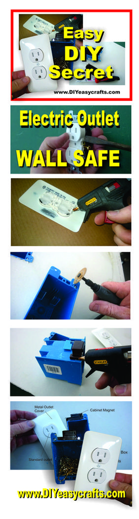 DIY Electric Outlet Wall Safe. Step by step instructions. www.DIYeasycrafts.com