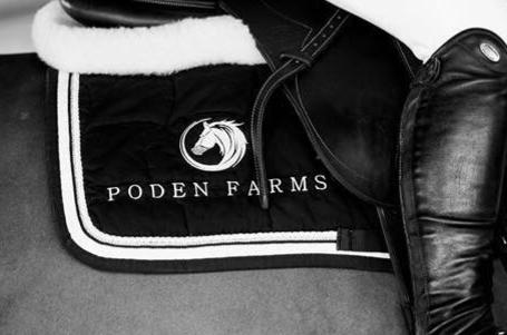 Embroidered saddle cloth, Poden Farms, Personalised, Logos