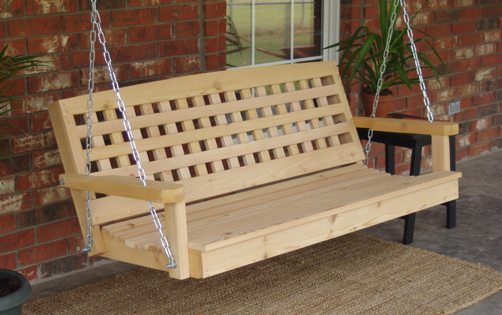 rustic tailgate porch swing