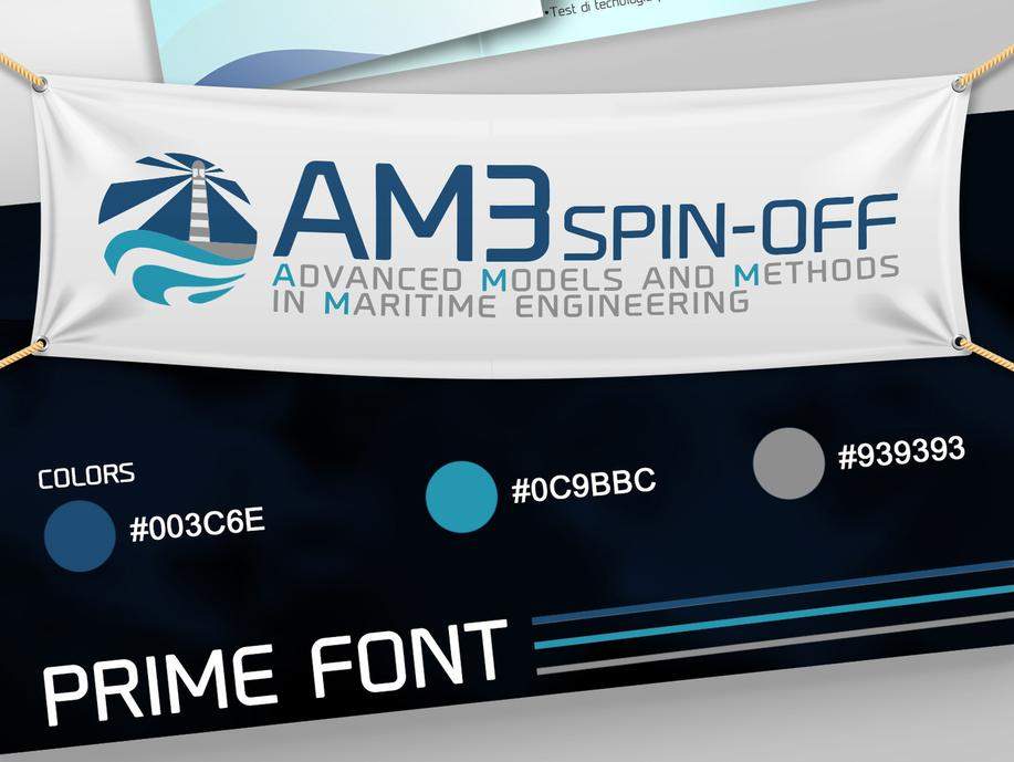 AM3 SPIN OFF LOGO IMMAGINE COORDINATA GRAFICA PROJECT DESIGN DESIGN107