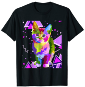 80s Party Cat T-Shirt