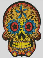 Cross Stitch Chart of Sugar Skull No 27