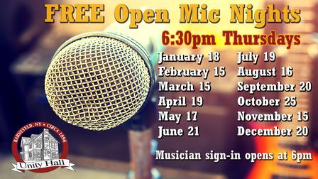 Open Mic Night at Unity Hall