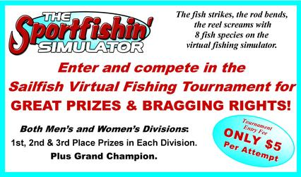 Sailfish Virtual Fishing Tournament at the All Valley Boat Show