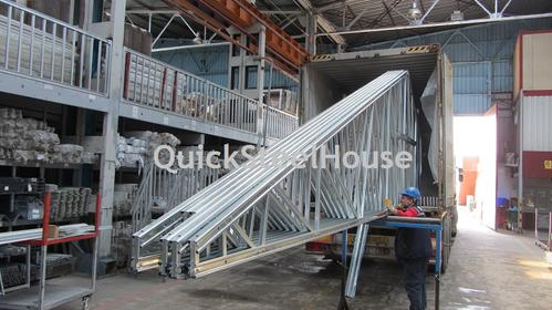 Transportation of the prefab steel house
