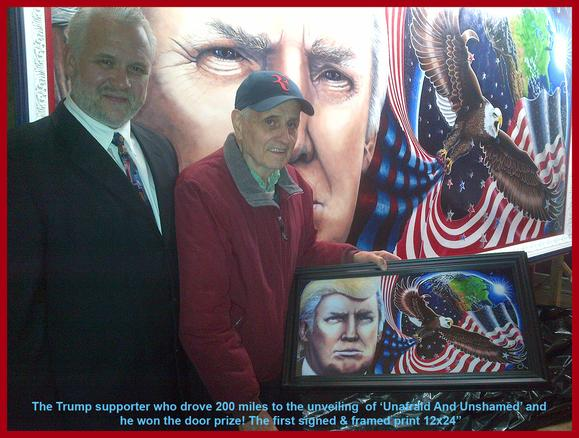 Trump Grassroots Rally by Artist Julian Raven Painter of Trump Painting Unafraid And Unashamed