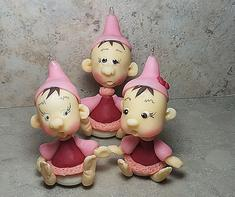 Gnome, Elves, Christmas Tree Ornaments, Clay Dolls, Figurines