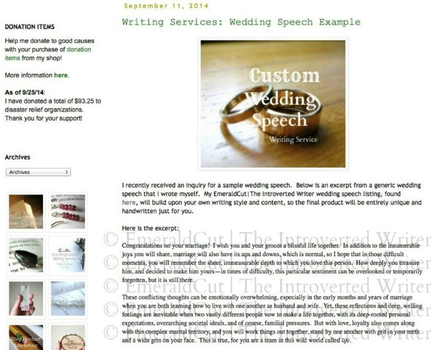Wedding Speech Example