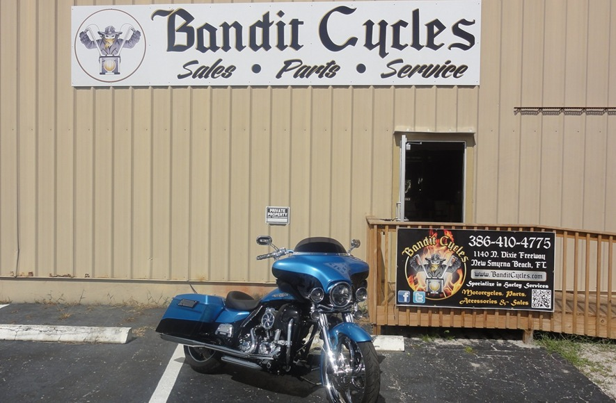 Bandit Cycles Sales Service New Smyrna Beach FL biker motorcycles chopper service central florida