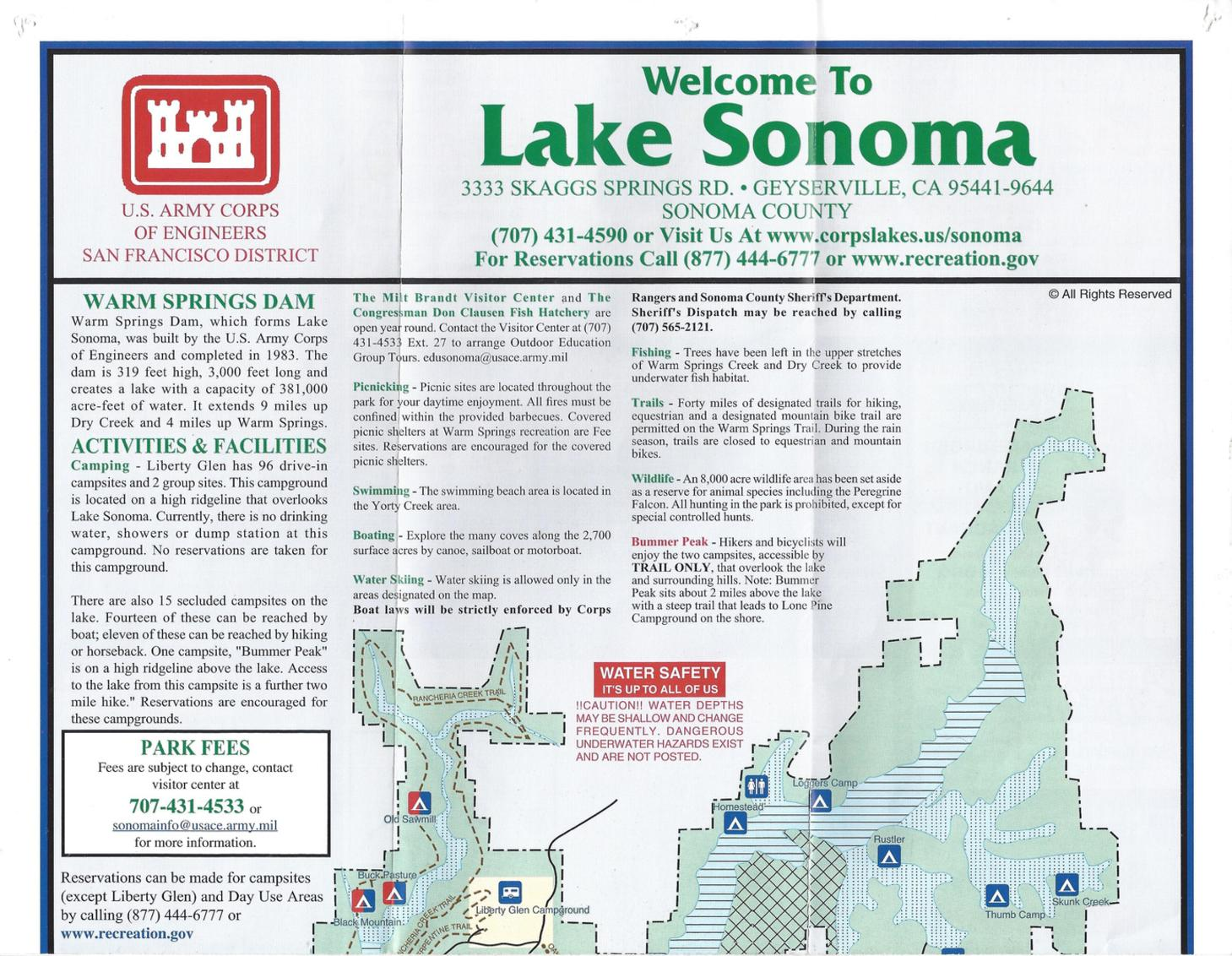 Camping directions for One day fishing license ca