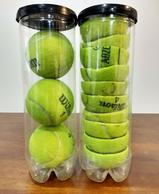 Store twice as many tennis balls in half the space!