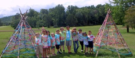 Campers Tie Dye Art Project