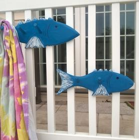 DIY Nautical Towel Rack. www.DIYeasycrafts.com