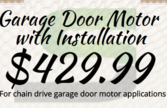 garage door motor with installation special in Las Vegas