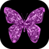 Glitter Butterflies Stickers page