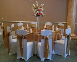 ELEGANT TABLECLOTHS AND SASHES