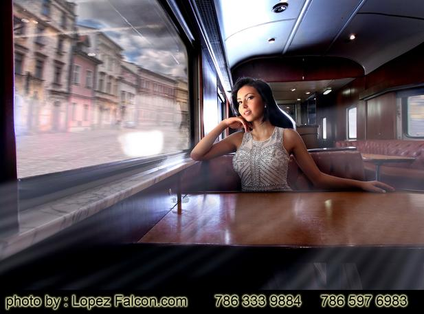 Qinceanera train quinces Photography Miami Station trains photo shoot Quinces Photography Sweet 15 quinceanera photographer