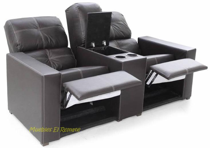 Love seat reclinable color chocolate venta solo en for Muebles baratos remate