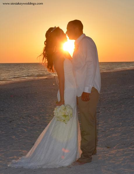 Lido Beach Sunset Wedding - Florida Beach Wedding at sunset