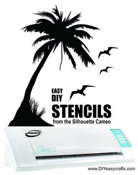 Easy DIY Stencils from the Silhouette Cameo craft cutting machine. FREE step by step instructions. www.DIYeasycrafts.com