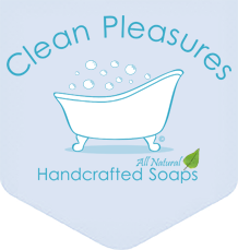 Clean Pleasures All Natural Handcrafted Soap Logo