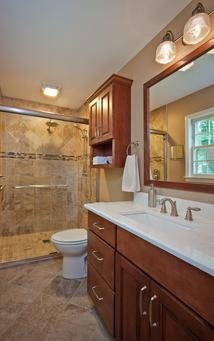 Small master bathroom in North Raleigh gets remodeled