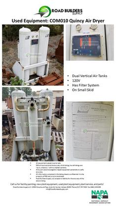 Dual Vertical Air Tanks 120V Has Filter System On Small Skid