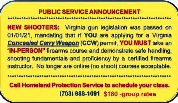 HPS Knows The Law and Will Teach You The Law of VA CCW