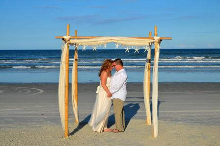 St. Augustine Beach Wedding Packages allowed this bride and groom to relax during their elopement.