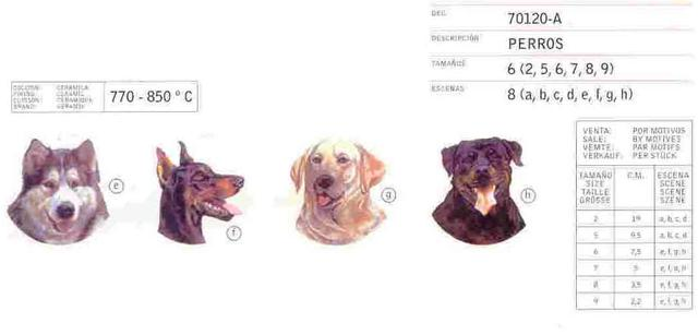 Dogs ceramic decals by Calcodecal