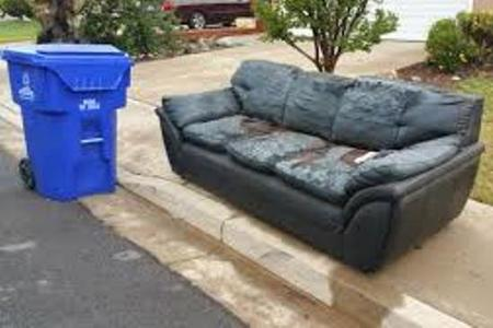 Leading Couch With Hide-Away Bed Removal Service Bed Haul Away in Lincoln NE LNK Junk Removal
