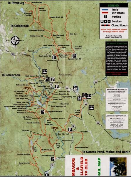 Trail Info - Berlin nh map