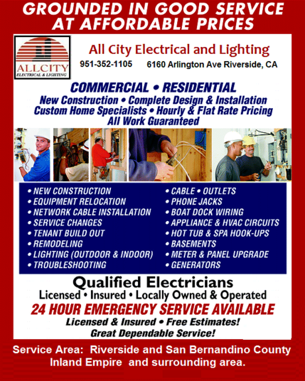 All City Electrical and Lighting display ad