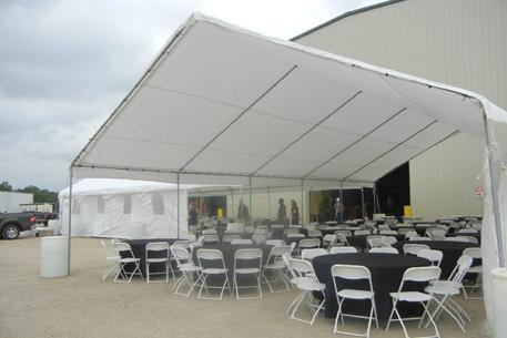 BLACK AND WHITE CORPORATE EVENT 30X50 TENT