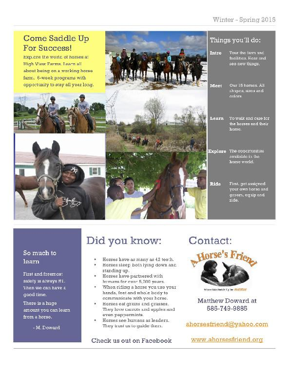 A Horse's Friend Trail Riding & Youth Programs