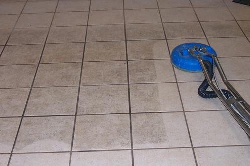Grout cleaning for Bathroom floors without grout