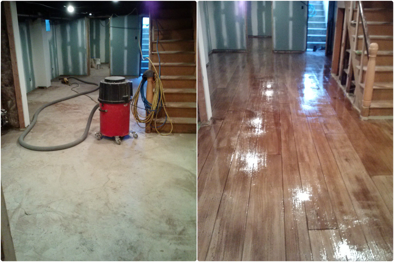 Concrete Wood Floors Concrete Wood