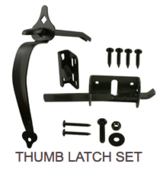 Thumb Latch Set Hardware - Western Red Cedar Wood Fencing Company In Chicago
