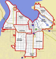 Tacoma Neighborhood Councils Map