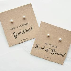 earring stud card