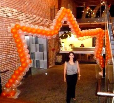star shaped balloon arch