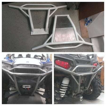 Polaris RZR custom tube bumpers with winch