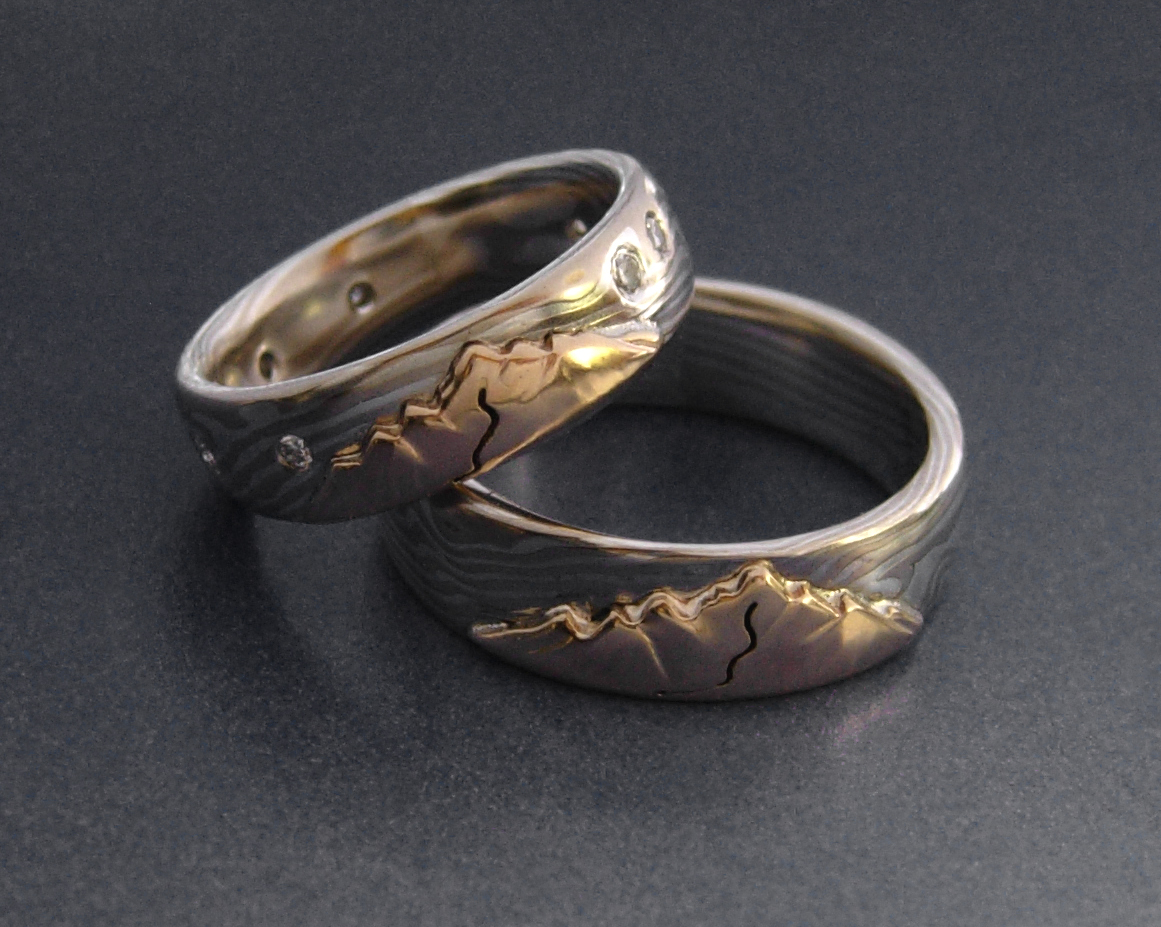 opal beach products titanium blk taylor rings surfer wedding lr blu bands koa over the falls hawaii