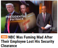 NBC Was Fuming Mad After Their Employee Lost His Security Clearance brennan trump