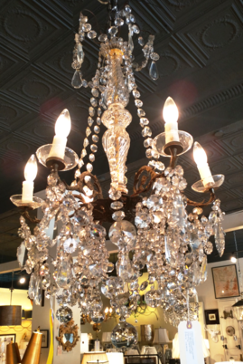 Crystal Chandelier cleaning and restoration by the House of Tuscany