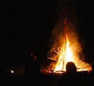 St. Hans bonfire at Sunset Villa