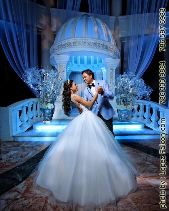 Winter Wonderland Quinceanera Sweet 15 Fantasy designers Party Theme Sweet 15 Photography Video Dresses Photo Shoot Fifteens Quince Venue Westin Colonnade Coral Gables quinceanera Dj Choreography Winter Wonderland Cake Winter Wonderland Stage Decoration Miami Winterland show Miami
